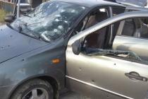 Под Липецком расстреляли автомобиль бизнесмена