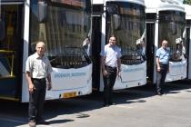 Приобретенные в рамках программы обновления городского транспорта автобусы будут осуществлять перевозку работников «НЛМК»