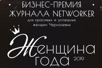 Журнал Networker в третий раз объявит «Женщину года 2019» в Липецке