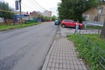 Реконструированную в рамках нацпроекта дорогу в Липецке строители частично сдали без тротуаров