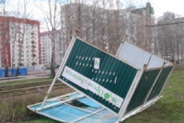 Последствия урагана в Липецке и Тамбове