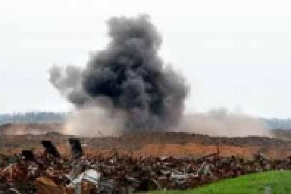 На уничтожение снарядов пошло 18 кг взрывчатки