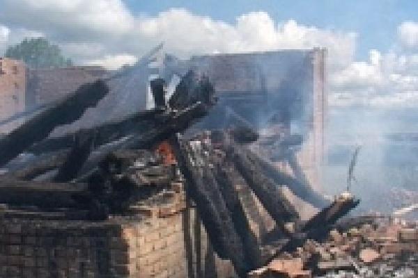 Пожар на улице Садовой