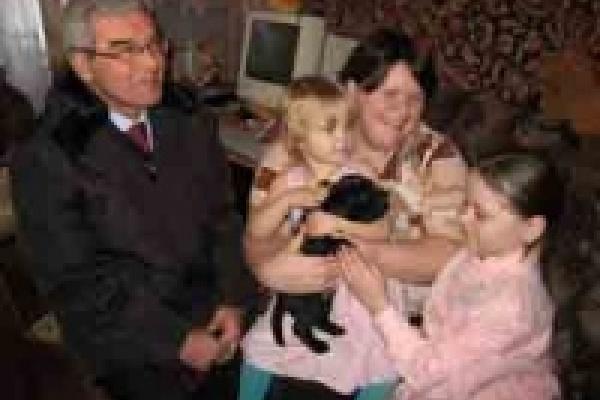 Мэр подарил липчанке щенка лабрадора