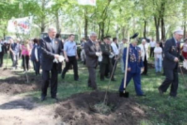В Липецке ветераны заложили «Аллею Патриотов»