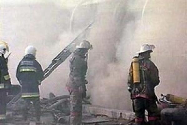 В пожаре погиб спасатель