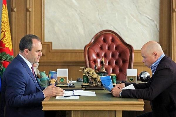 Глава Росприроднадзора Черноземья Алексей Карякин встретился с губернатором Липецкой области Игорем Артамоновым