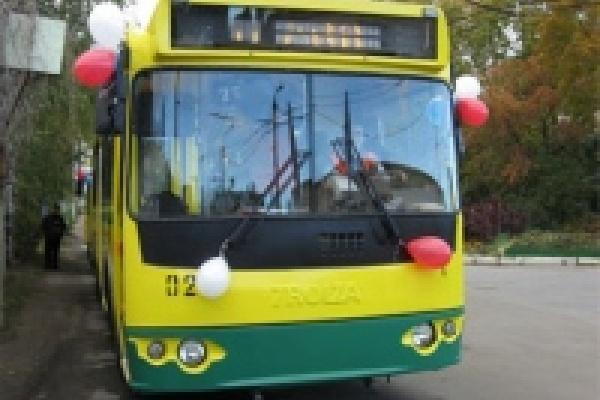 На липецкие маршруты вышли новые троллейбусы