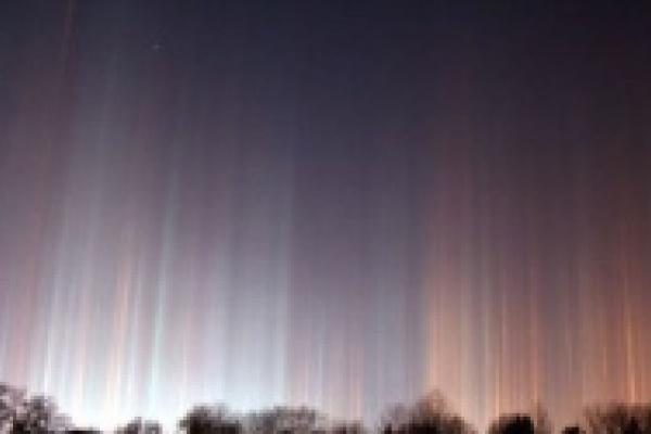 В Липецке ночью наблюдалось редкое природное явление
