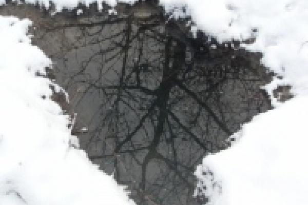 Река Воронеж в Липецке освобождается ото льда