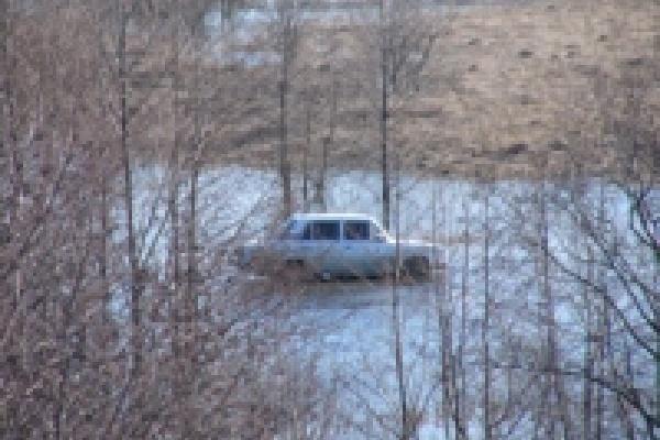 На Быстрой Сосне начался ледоход