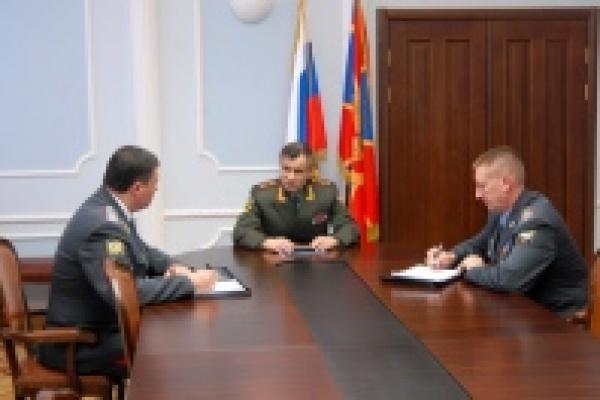 Министр внутренних дел встретился с новым начальником управления МВД по Липецкой области