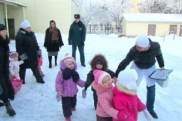 В детском саду № 7 прошла тренировка по эвакуации детей при пожаре