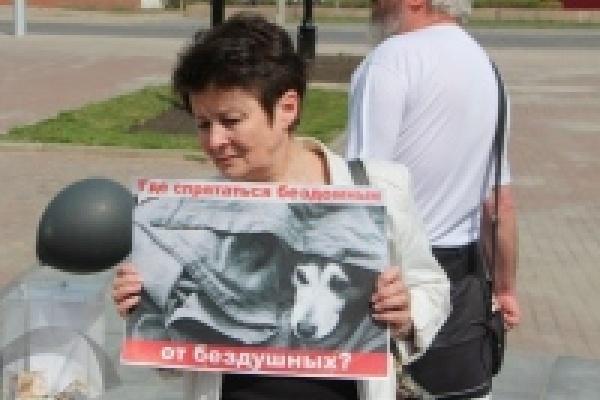 В Липецке 60 человек поддержали акцию против жестокого обращения с животными
