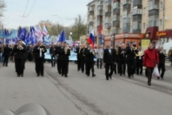 Первомайская демонстрация собрала в Липецке около двух тысяч человек
