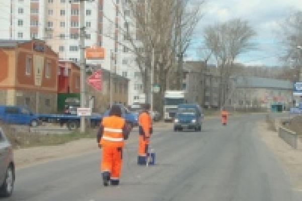 Центральные улицы Липецка разметят в ближайшее время