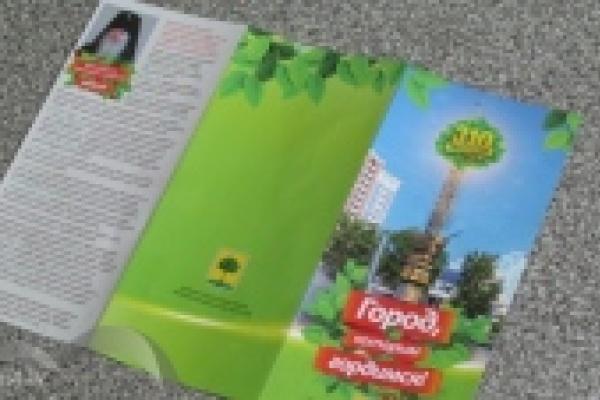 Жителям города раздают буклеты, приуроченные к 310-летию Липецка