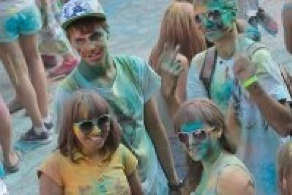 В Липецке впервые прошел Фестиваль красок