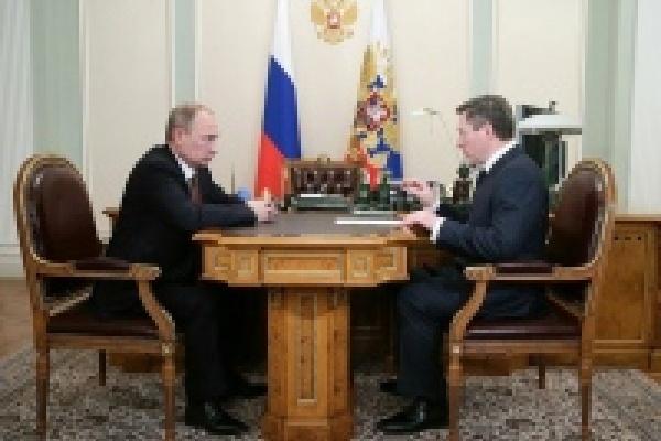 Губернатор Липецкой области Олег Королёв рассказал президенту о росте инвестиций