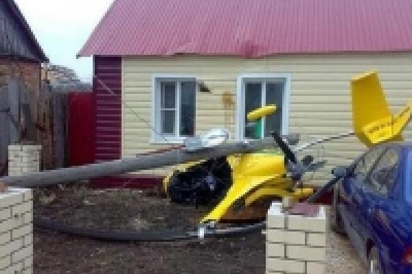 Вертолет вице-мэра Липецка упал во дворе частного дома