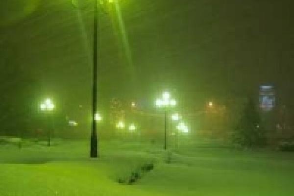 В Липецке начинается зима