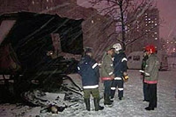 Пожар в вагончике