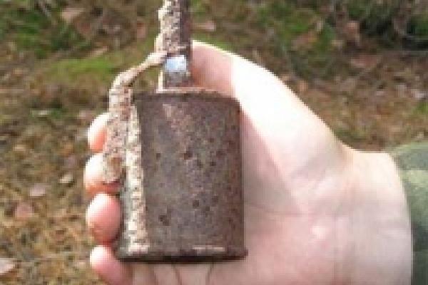 Мальчик на стройке гранату нашёл