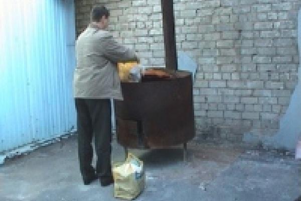 15 килограммов наркотиков попали в печь
