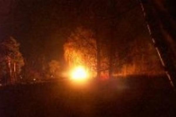 Пожар в заброшенном доме
