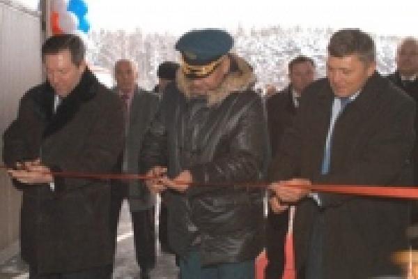 Сергей Шойгу и Олег Королев открыли в Липецке новую пожарную часть