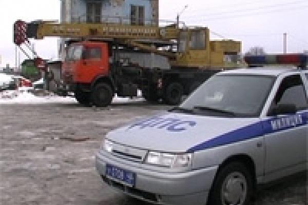 В Липецкой области нашли кран из Санкт-Петербурга