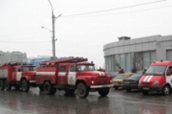 В Липецке горел торговый центр «Меркурий»