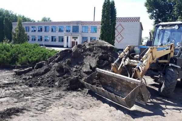В Елецком районе Липецкой области оборудуют площадь с фонтанами