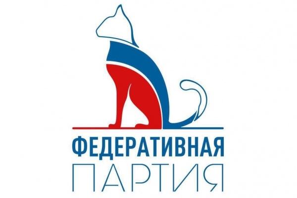 Символом созданной липецким депутатом Федеративной партии стал разукрашенный в триколор котик
