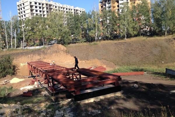 В микрорайоне Елецкий строят современную эстакаду за 5 млн. рублей