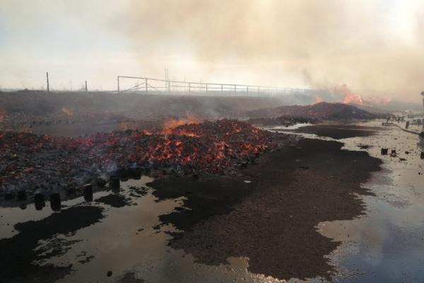 В Липецкой области загорелся завод деревянных конструкций «ДримВуд»