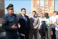 В Липецке прошли учения по эвакуации людей из горящего жилого дома